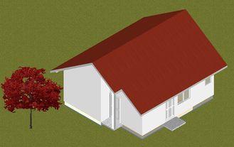 China Prevención contra los incendios prefabricada de acero ligera de hogares de la casa de planta baja resistente a la polilla, pequeños hogares manufacturados proveedor