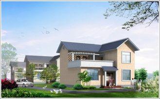 China El acero ligero de 2 historias prefabricó la casa de Woden, casa de acero prefabricada blanca para vivir proveedor