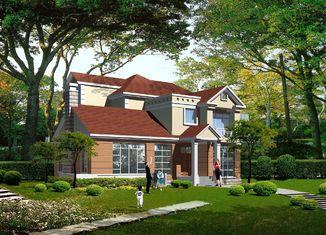 China Chalet ligero prefabricado de la estructura de acero del indicador, casas prefabricadas de acero proveedor
