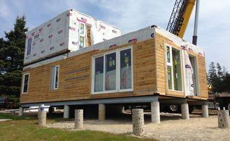 China Chalet ligero de dos pisos prefabricado edificios modulares del acero del indicador de la casa proveedor