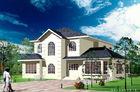 China El chalet prefabricado de acero del indicador de la luz blanca/la casa prefabricada arquitectónica se dirige el estándar de América fábrica