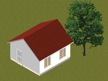 China La pequeña casa de planta baja prefabricada del marco de acero de la familia se dirige/los hogares prefabricados contemporáneos distribuidor
