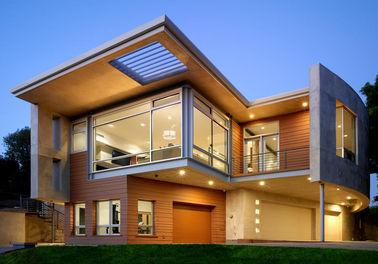 Casa de acero prefabricada lujosa/casa prefabricada etc del metal del marco de acero de la luz