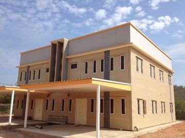 Los E.E.U.U. exportaron la casa prefabricada ligera del marco de acero, prueba del terremoto, tecnología prefabricada de la casa de la prueba del ciclón