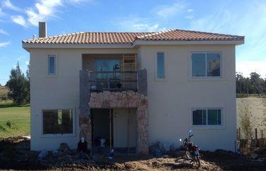 Monte rápidamente el chalet prefabricado de la casa, casa de acero prefabricada de dos pisos con curso de la vida largo