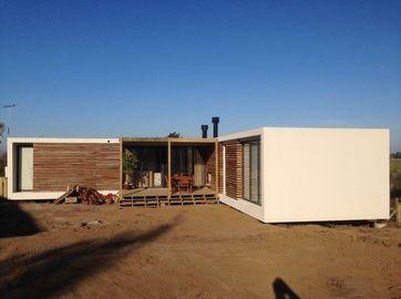 Las casas prefabricadas modernas de la estructura de acero, hogar de la casa de planta baja de Uruguay planean