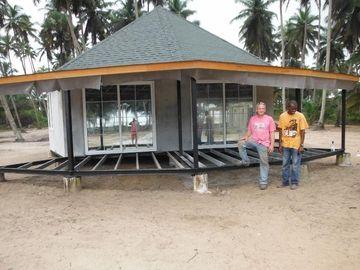 Casa de planta baja prefabricada de Bali del nuevo diseño, casas de planta baja de Overwater para la playa