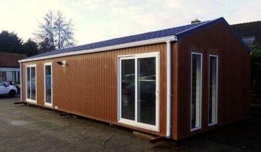 El tejado plano moderno prefabricó la casa, los hogares Pre-construidos ignifuga la caravana, Bélgica exportó caravanas