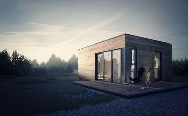 Estudio prefabricado del jardín de la casa prefabricada con almacenamiento ligero del marco de acero